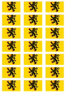 Nord-Pas-de-Calais Flag Stickers - 21 per sheet